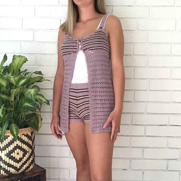 Urban Life Other - Urban Life | Boho Crochet Shorts Top Set Outfit
